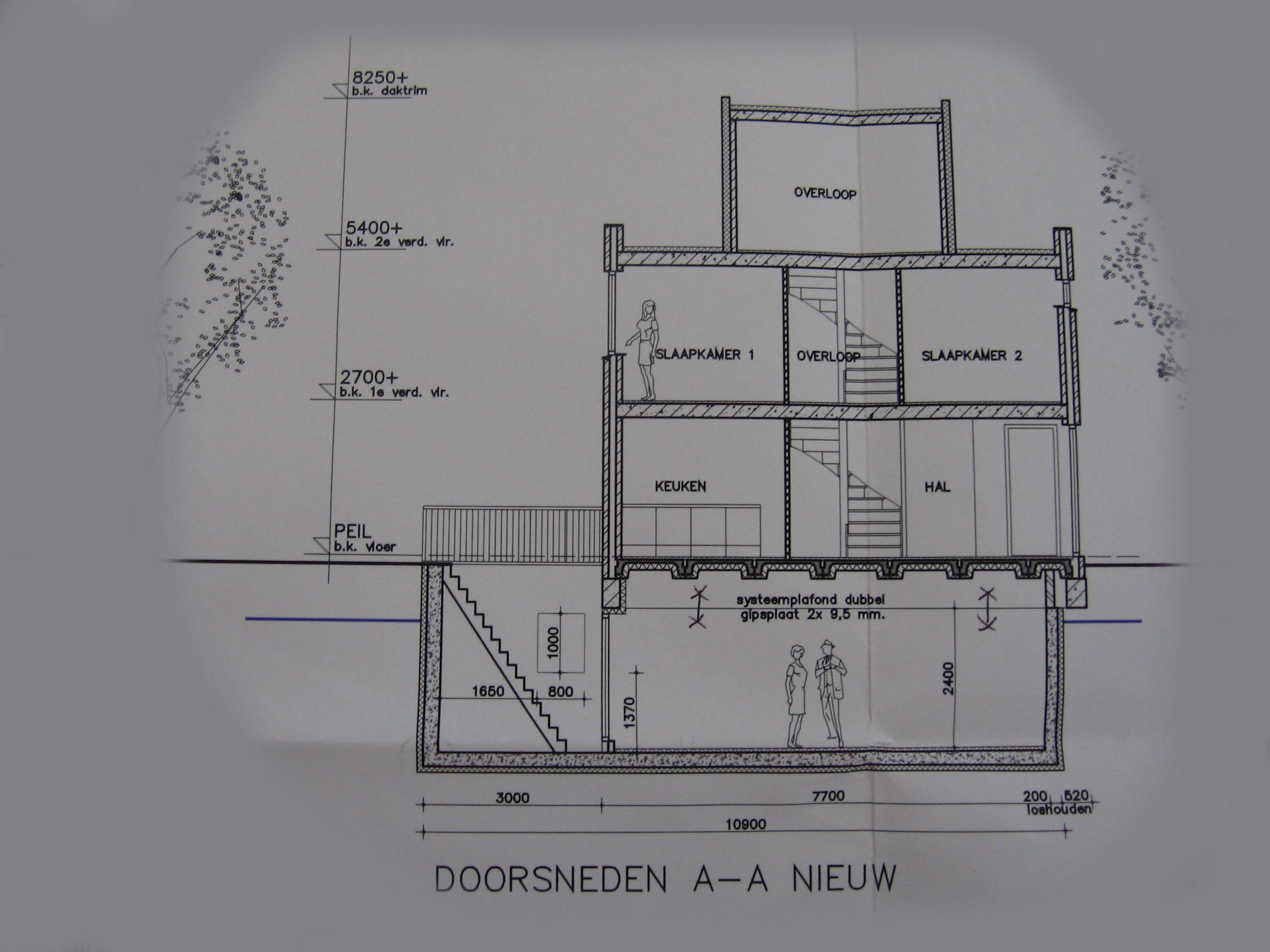 Vebouwing for Trap doorsnede